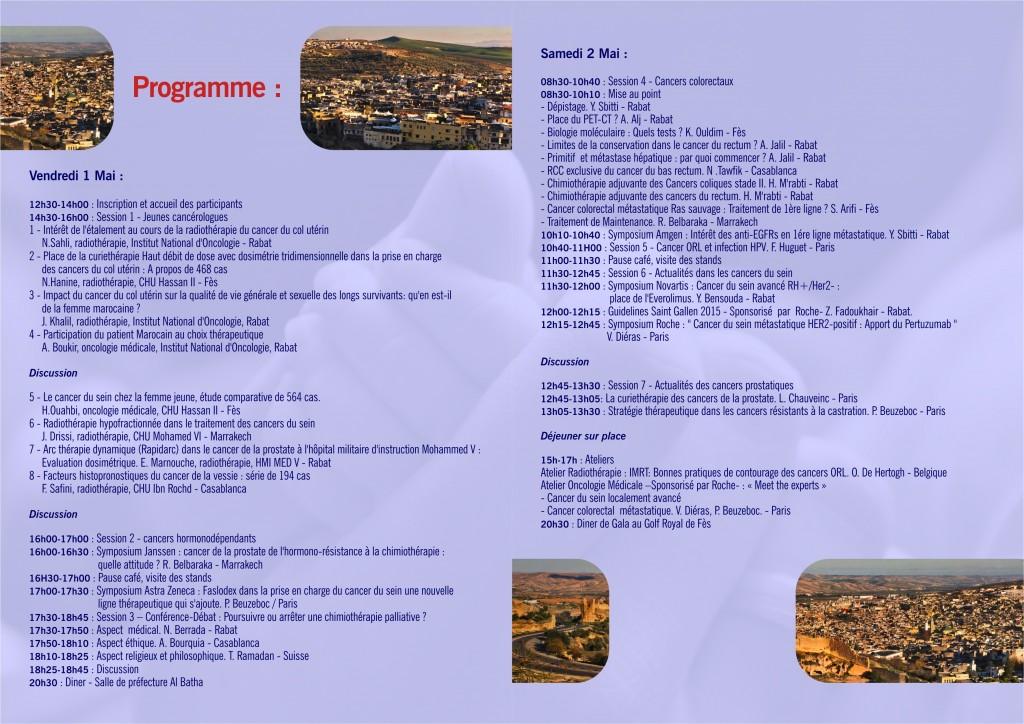 23e Congrès SMC Mai 2015 - Programme